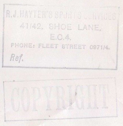 R.J.Hayters's Sports Services, Shoe Lane