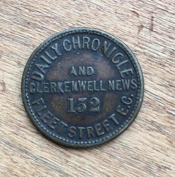 Daily Chronicle and Clerkenwell News advertising token